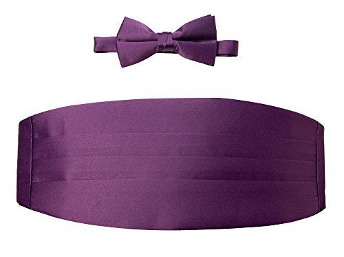 Purple Mens Cummerbund - Spring Notion Men's Cummerbund and Bow Tie Set Dusty Purple