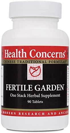 Health Concerns - Fertile Garden - One Stack Chinese Herbal Supplement - Modified Yi Guan Jian - Fertility Support - with Loranthus Stem - 90 Tablets per Bottle