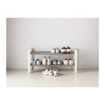 Captivating Ikea Tjusig Shoe Rack, White