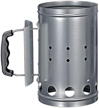 HI 60061 Grill Kohleanzünder aus Metall, silber (1 Stück)
