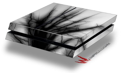 Lightning Black - Decal Style Skin fits original PS4 Gaming Console