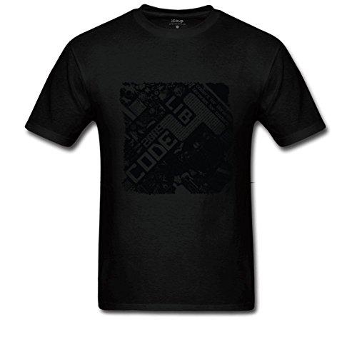 Men's Code Library 2009 T-Shirt Regular T Shirt L Black