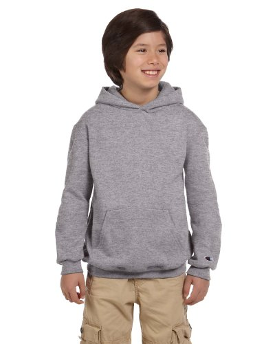 Champion Youth Eco Youth 9 oz. Pullover Hood, Large, LIGHT STEEL