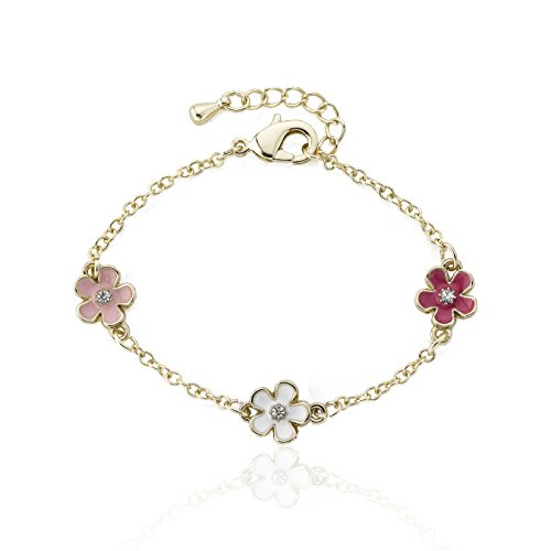 Bracelet Station Flower (Sam K Multi Color Enamel Flowers Station Bracelet)