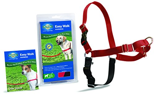 Petsafe Easy Walk Harness Large Red Black For Dogs