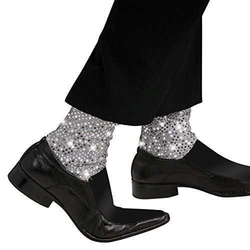 Michael Jackson Sequin Sparkle Socks Costume Accessory (Zombie Cowgirl Costumes)