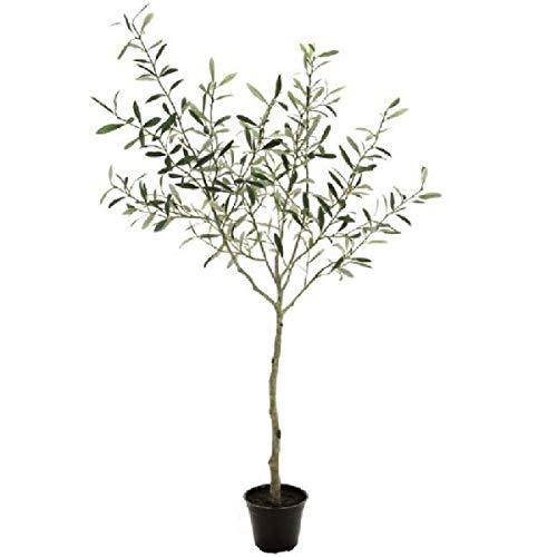 人工観葉植物 オリーブポット4F 高さ120cm fg1890 (代引き不可) インテリアグリーン 造花 B07SYX18BV