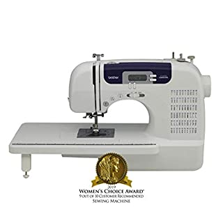 Brother Sewing and Quilting Machine, CS6000i, 60 Built-In Stitches, 7 styles of 1-Step Auto-Size Buttonholes, Wide Table, Hard Cover, LCD Display and Auto Needle Threader (B000JQM1DE) | Amazon price tracker / tracking, Amazon price history charts, Amazon price watches, Amazon price drop alerts