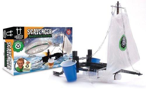 Uberstix Scavenger Recycling Series-PirateShip/Flying Saucer by Uberstix