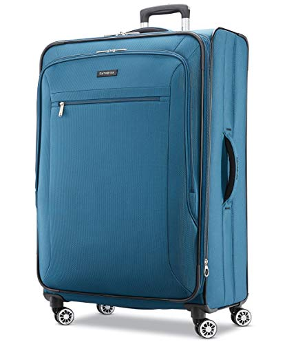 Samsonite Ascella X Softside Expandable Luggage with Spinner Wheels, Teal, Checked-Large 29-Inch