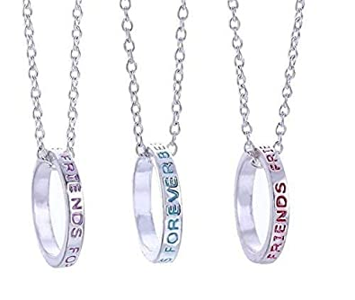 Best Friends Forever Bff Ring Charms Silver Tone 3 In 1 Pendant