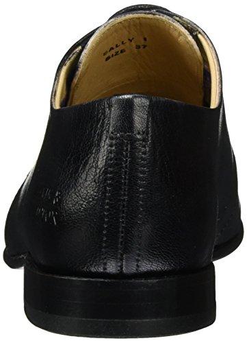 Melvin & HamiltonSally 1 - Zapatos Derby Mujer Schwarz (Venice Black LS-NAT)