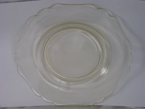 Cambridge Glass 3400 Line Dinnerware 7 3/4 Inch Luncheon Yellow Amber Plate Depression Glass