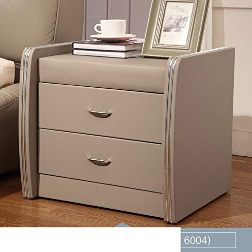 Xiaomei Modern Bedroom Assembly Bedside Table Nordic Corner Cabinet Leather Cabinet Storage Furniture (Color : 6004) ()