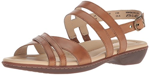 (Hush Puppies Women's Dachshund Strappy Sandal, tan Leather, 09.0 M US)