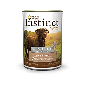 Instinct Limited Ingredient Diet Grain Free Turkey Formula Natural Wet Canned Dog Food by Nature's Variety, 13.2 oz. Cans (Case of 6)