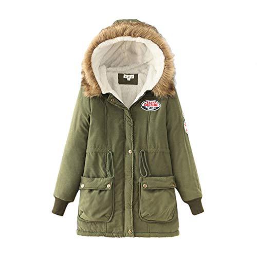 Fourrure Rembourré Casual Baijiaye D'hiver Vert Anorak2 Avec Parka Armée Veste Capuche Manteaux Chaude Femmes Épais Synthétique wqSpxv7qX