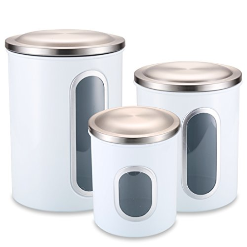 Kitchen Canisters White: Amazon.com