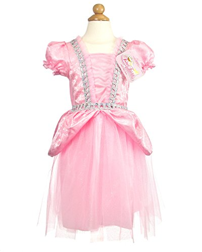 My Princess Academy Girls Elegant Costume Fairy Tale Dress Pink and Silver Medium