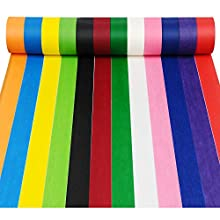 YUEAON 12-Pack 2 inchx22 Yard Rainbow Masking Tape Labelling Tape Craft Paper Tape for Kids Craft Teacher Painter Artists, DIY Classroom Decorations & Teaching Supplies-12 Colors