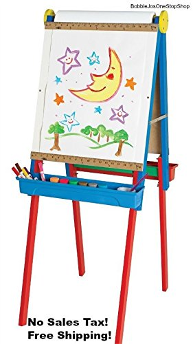 Wingsmarketshop Crafts Double Easel For Two with Bonus Standing Painting Chalkboard Whiteboard Artist Supplies Wooden Letters Create Draw Art Developmental For Kids (Sarah Bible Costume)