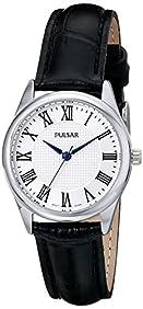 Pulsar Women's PG2017 Analog Display Japanese Quartz Black Watch