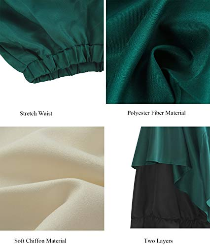a0369fb6552d ROLECOS Womens Renaissance Medieval Costume Trumpet Sleeve Peasant Shirt  and Skirt