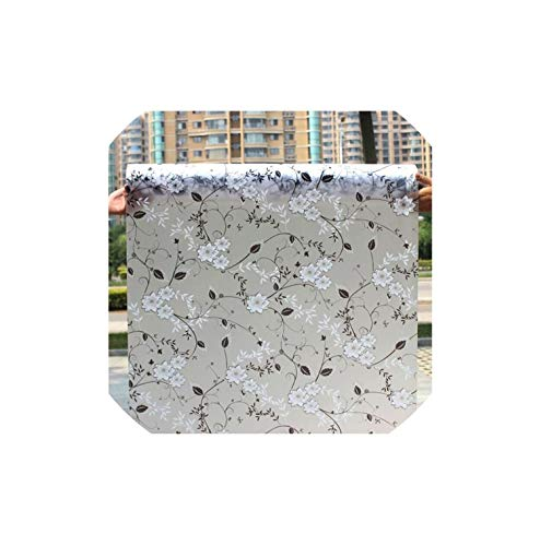 Opaque Glass Window Film for Window Privacy Adhesive Glass Stickers Waterproof Bathroom Toilet,Hq26 ()
