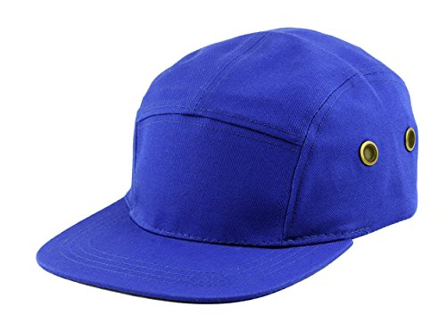 NYFASHION101 Five Panel Solid Color Unisex Adjustable Army Military Cadet Cap, Royal ()