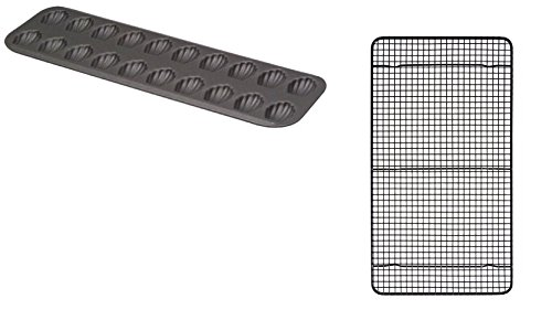 Ann Clark Cookie Cutters Mrs. Andersons Professional Non-Stick Baking and Cooling Rack and Madeleine Pan