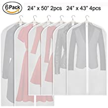 Zilink Hanging Garment Bag Lightweight Suit Bags Moth-proof (Set of 6) with Study Full Zipper for Closet Storage and Travel [Upgraded Version] …