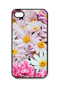 E-luckiycase PC Hard Shell Flowers with Black Skin Edges for iPhone 6 plus Case