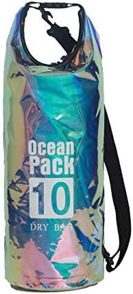 [スポンサー プロダクト]Time House クリアバッグ 防水バッグ ビーチバッグ 透明ドラム型 アウトドア ビニール レーザーPVC dry bag プールや海に