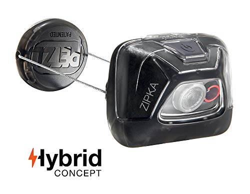 PETZL - ZIPKA Headlamp, 200 lumens, Ultra-Compact Headlamp, Black