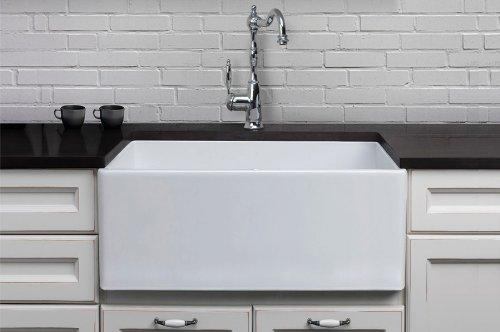 alfi brand ab505w 26inch smooth fireclay farmhouse kitchen sink white vessel sinks amazoncom