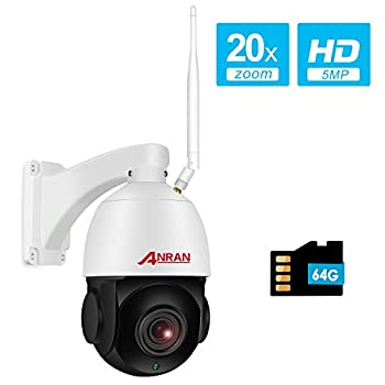 Image of 【With Audio】5MP Wireless Indoor Outdoor PTZ Home Security HD Camera with 20X Optical Zoom,WiFi Surveillance Dome Camera Built-in 64GB Micro SD Card, IP66 Waterproof,Remote Access,355°Pan 90°Tilt ANRAN Dome Cameras