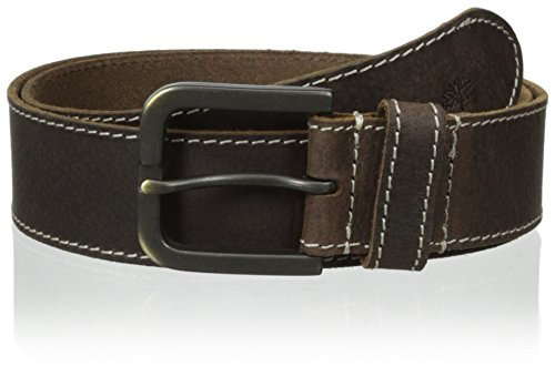 Timberland Men's Leather Belt 40mm, Brown (Stitched), 40