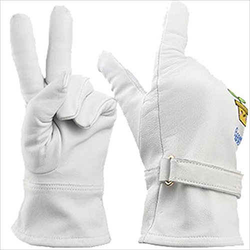 Techecho Gloves Supplies Sheepskin Embroidery Home Gardening Garden Labor Insurance Protection Planting Flower Arrangement Suitable for Home Handling Ride Bamboo Working Gloves for Women and Men by Techecho