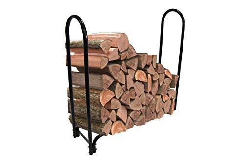 AmazonBasics Outdoor Indoor Log Rack - 4 Feet