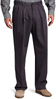 Haggar Men's Work-to-Weekend No-Iron Pleat-Front Pant with Hidden Expandable W