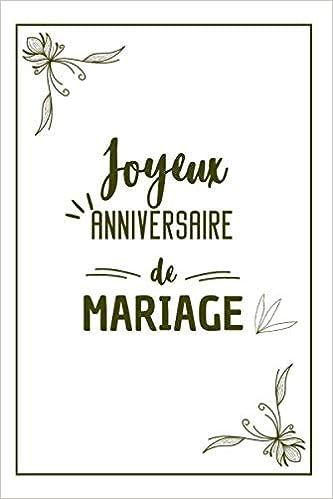 Joyeux Anniversaire De Mariage Calepin Carnet De Notes