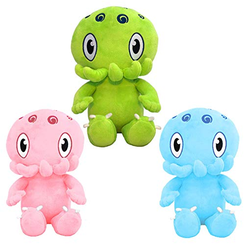 - C is for Cthulhu Baby Plush Trifecta (Green + Pink + Blue) Bundle