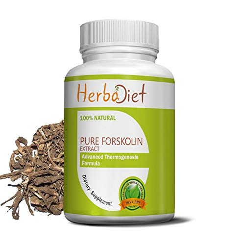 100% Pure Forskolin Extract Capsules | 20% Standardized Max Strength Weight Loss, Appetite Suppressant, Carb Blocker…