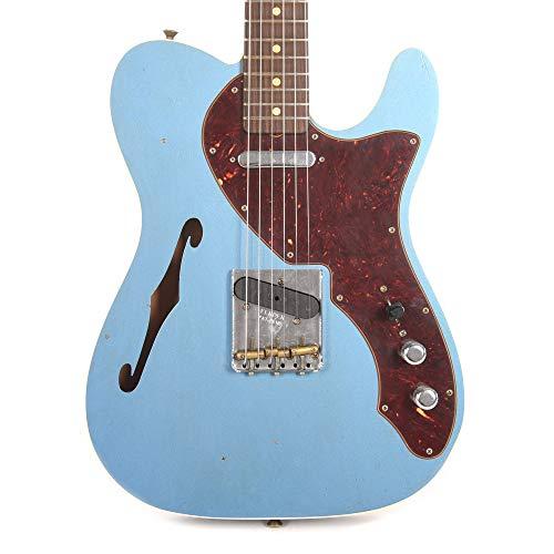 Fender CS Limited Edition '60s Telecaster Thinline Custom Journeyman RW Faded Aged Lake Placid - Telecaster 60s Custom