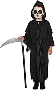 star55 grim reaper costume boys scary halloween death robe hood fancy dress small costume only
