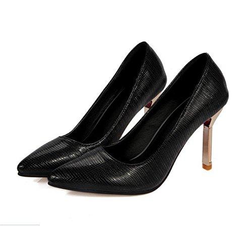 High Bequeme Gerichtsschuhe XIE Spitzzehe Mund Flacher Heeled Schuhe thineither Womens q7x8w1xtH