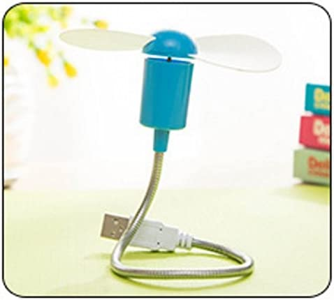 Higere Portable USB Mini Notebook Bendable Snake Fan for Computer Blue