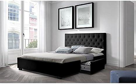 Louis Estructura de cama con somier 160 x 200 cm, 2 cajones ...