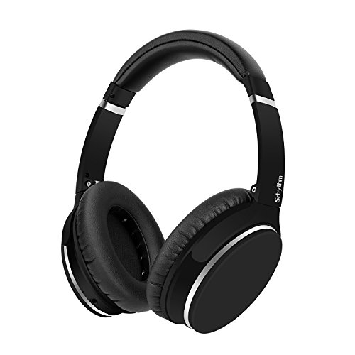 Active Noise Cancelling Bluetooth Headphones, Hi-Fi Deep Bass Wireless over Ear Headphones with Microphone 40mm Large-aperture Driver 16H Playtime for Travel Work TV PC Iphone
