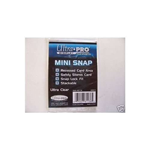 Ultra Pro Mini Snap Card Holder #81136 Bundle of 20 Mini Snaps UltraPro
